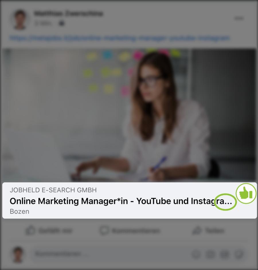 Optimale Länge Jobtitel für die perfekte Stellenanzeige in soziale Medien