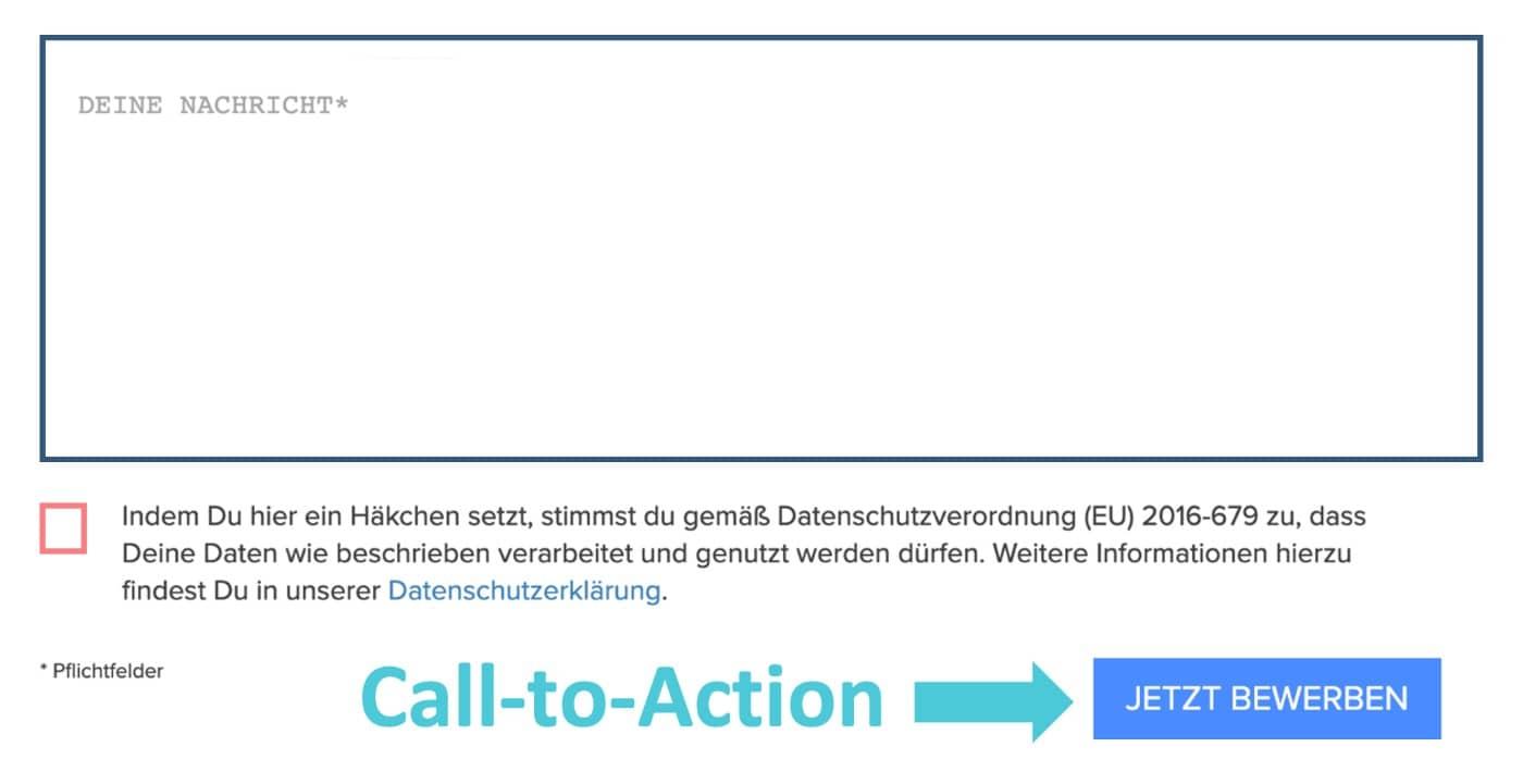 Call-to-Action in der Stellenanzeige Grafik